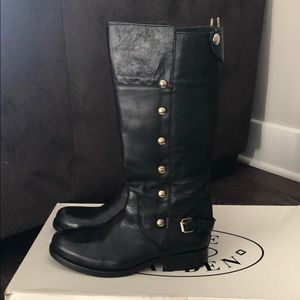 Black Steve Madden knee high boots